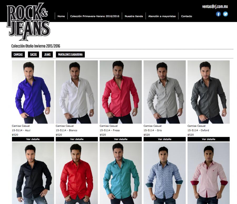 Rock & Jeans Primavera Verano, 2015. Diseño de sitio web.