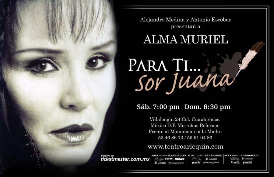 Para ti, Sor Juana… Con Alma Muriel. Diseño de cartel publicitario