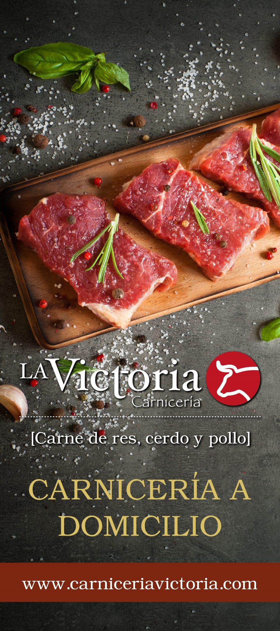 Carnicería La Victoria. Diseño de logotipo e identidad corporativa.