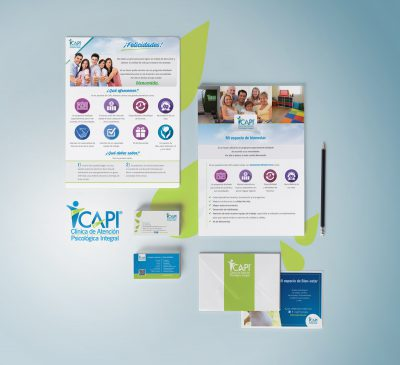 CAPI Piscólogos CDMX. Diseño de identidad institucional