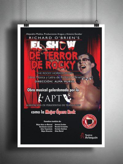 El show de terror de Rocky. Diseño de cartel publicitario