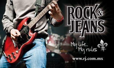 Rock & Jeans. Diseño de identidad corporativa y gráficos de marca.