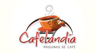 Cafelandia. Diseño de logotipo y papelería.. Diseño de identidad corporativa. Soto Comunicación