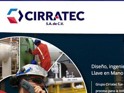 Cirratech. Diseño y programación de sitio web.