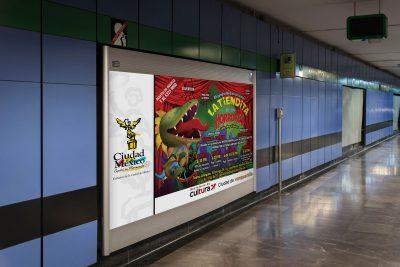 La tiendita de los horrores. Publicidad en el Metro de la CDMX.