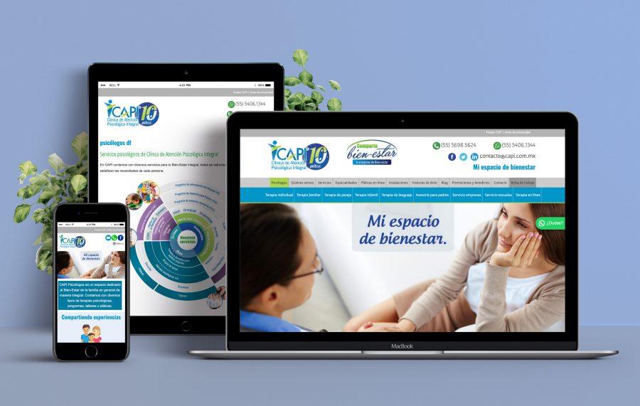 CAPI. Diseño de sitio web y posicionamiento SEO.