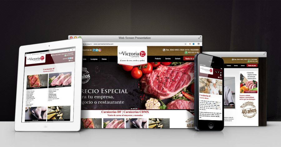 Carnicería La Victoria. Diseño y programación de sitio web.