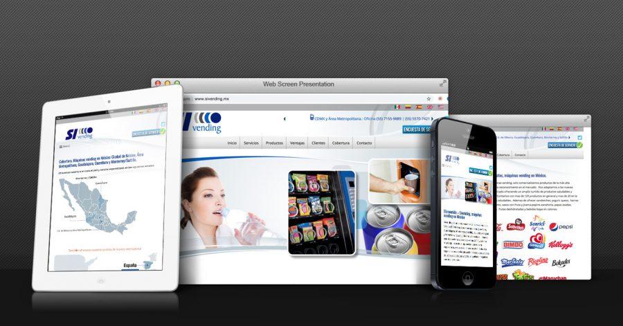 Sivending. Diseño de sitio web.