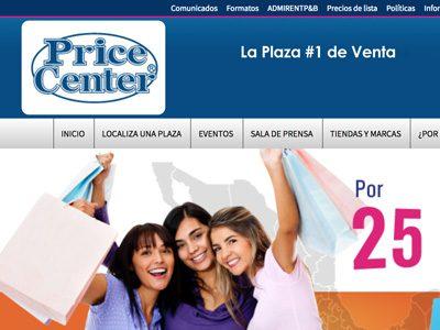 Price Center. Diseño y programación de sitio web.