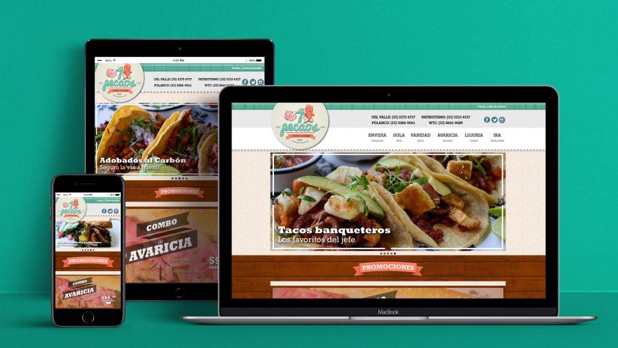 7 Pecaos. Diseño y programación de sitio web.