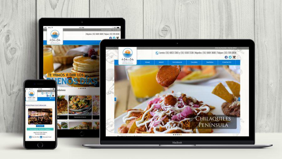 De Costa a Costa. Diseño y programación de sitio web.