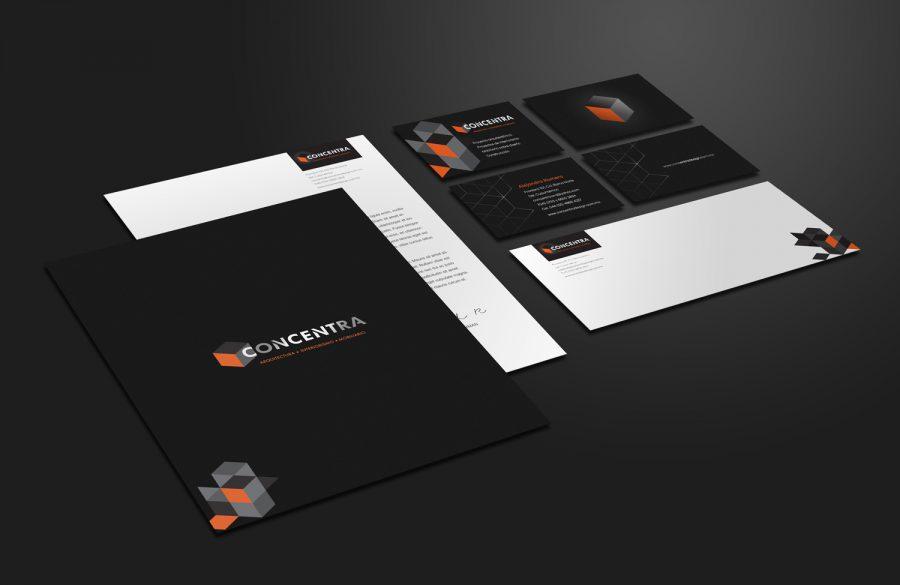 Concentra Design. Diseño de identidad corporativa.