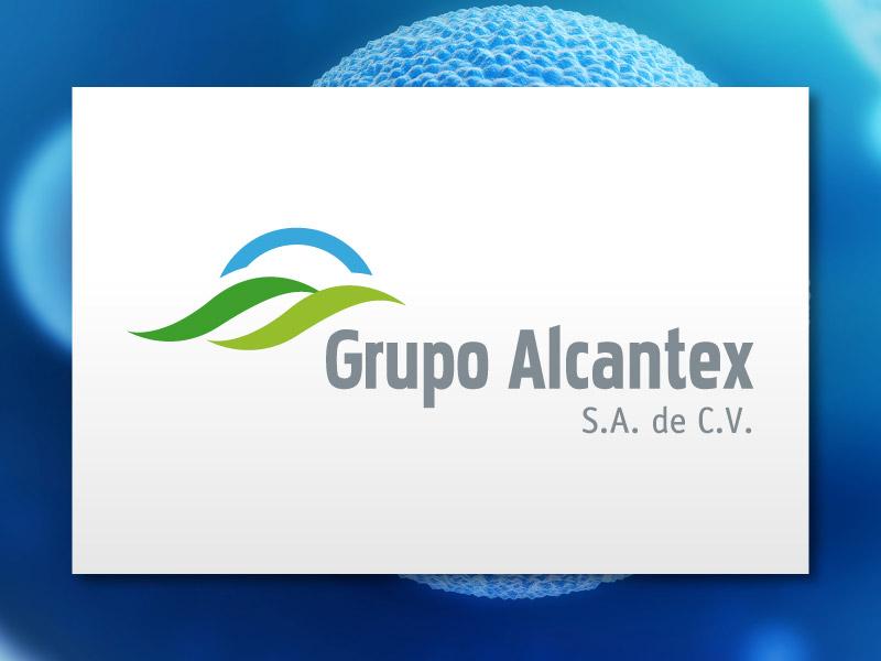 Grupo Alcantex. Diseño de logotipo.