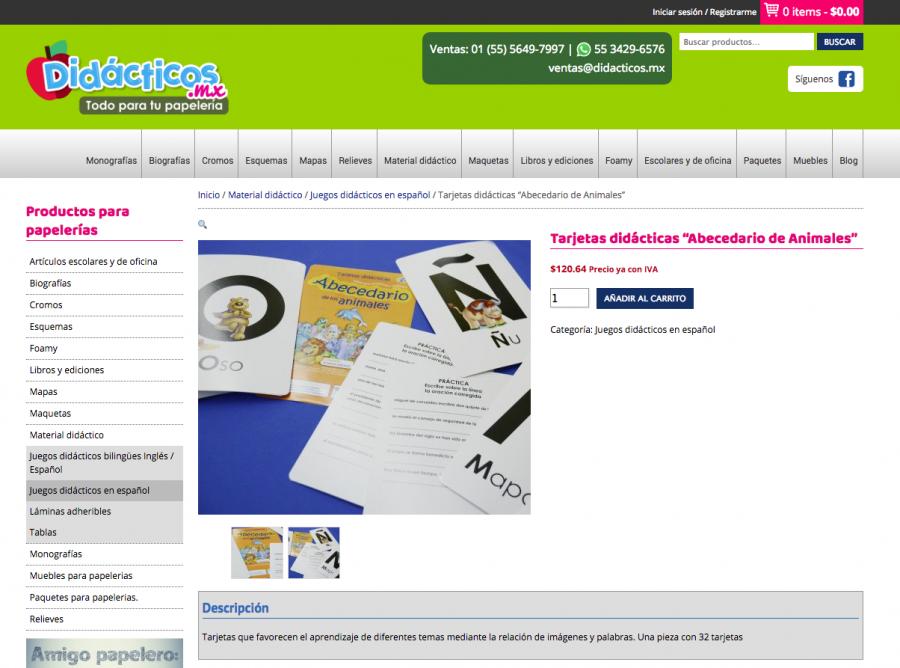 Didácticos, todo para tu papelería. Diseño de tienda en línea.