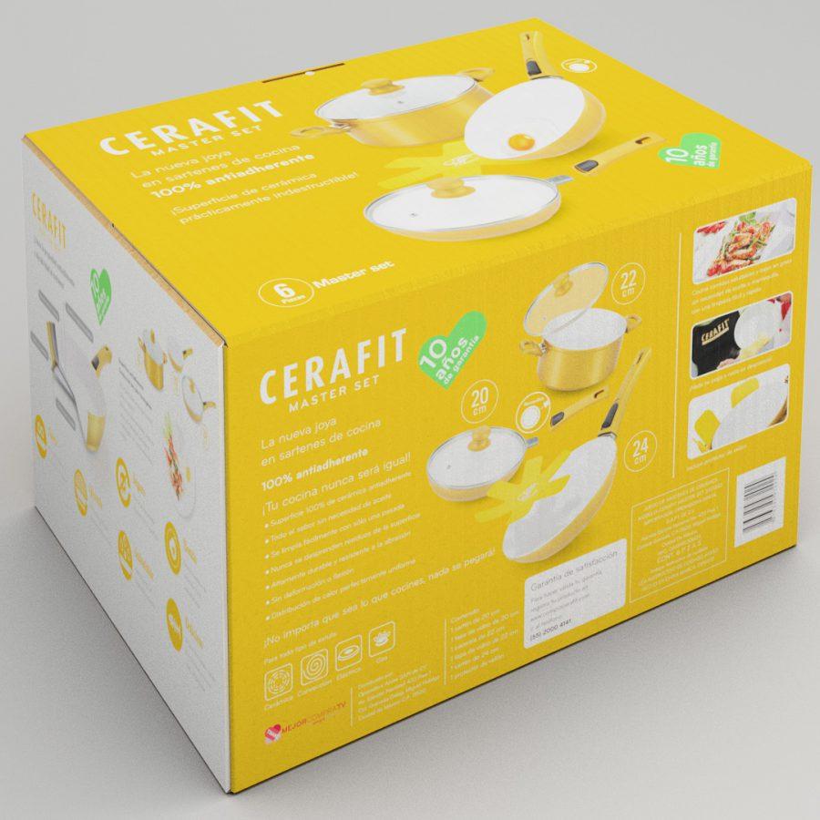 Cerafit Gold Edition. Diseño de caja para producto.