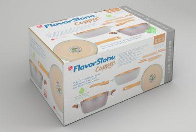 FlavorStone Copper. Diseño de caja para producto.