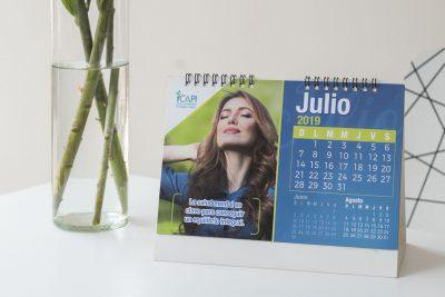 CAPI Piscólogos CDMX. Diseño de calendario 2019.