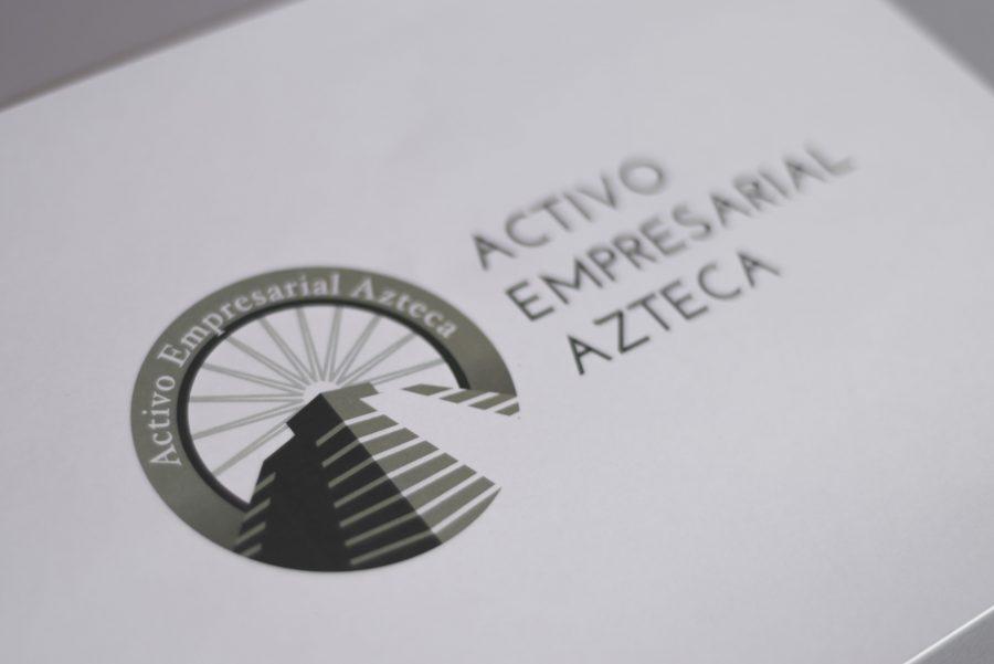 Activo Empresarial Azteca. Diseño de logotipo