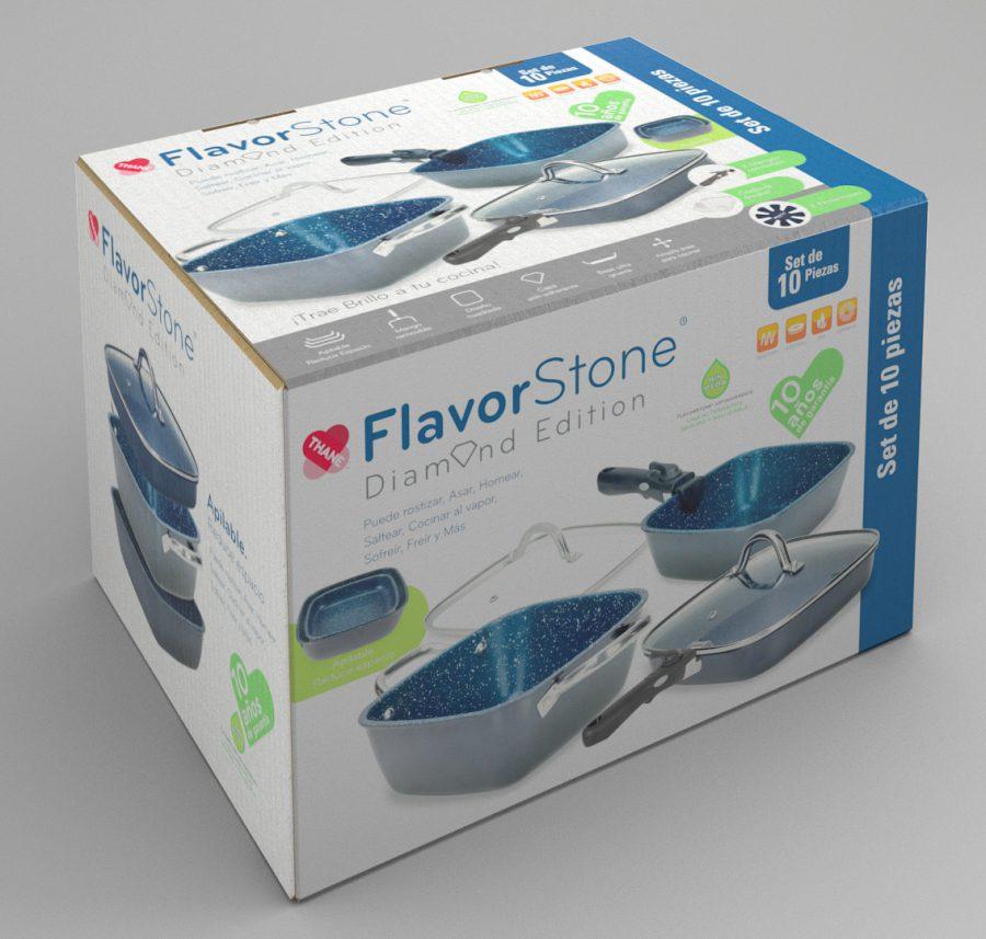 FlavorStone Diamond. Diseño de caja para producto.