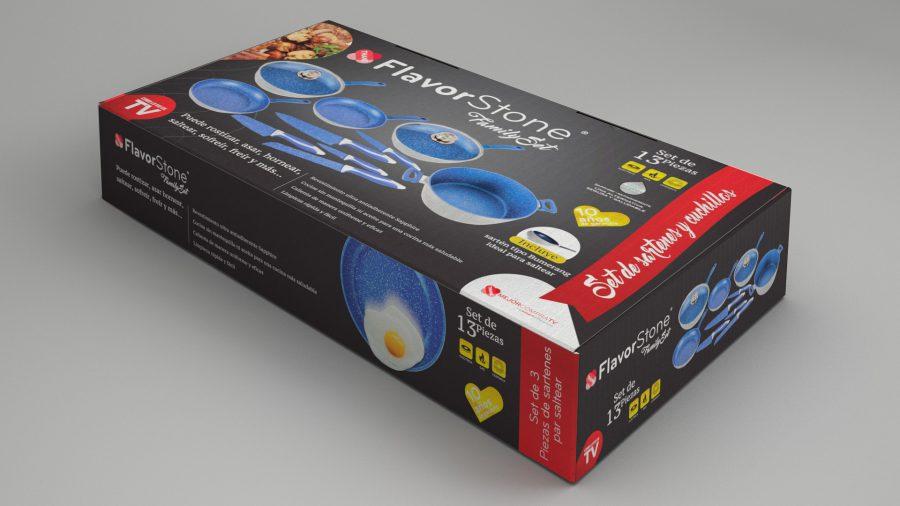 FlavorStone Family. Diseño de caja para producto.