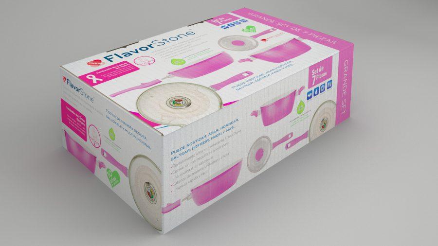 FlavorStone Rosa. Diseño de caja para producto.