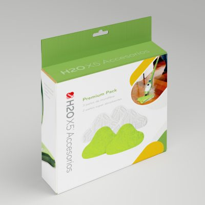 Accesorios H2O Mop. Diseño de caja para producto.