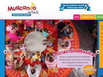 Musicando. Diseño de sitio web.