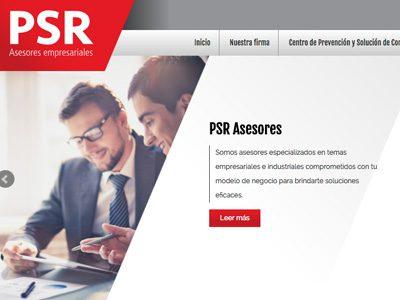 PSR Asesores. Diseño de sitio web.