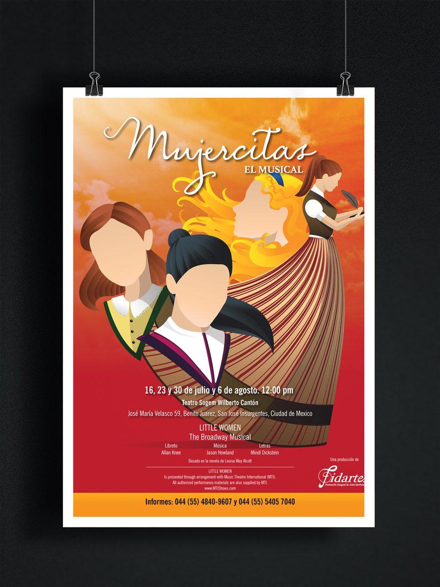 Mujercitas. El musical. Diseño de imagen de la obra musical y de gráficos publicitarios.