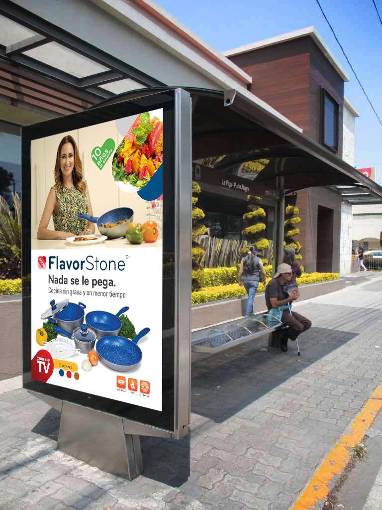 FlavorStone. Diseño de gráficos de Parabus.