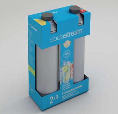 Botellas Sodastream. Diseño de caja para producto.