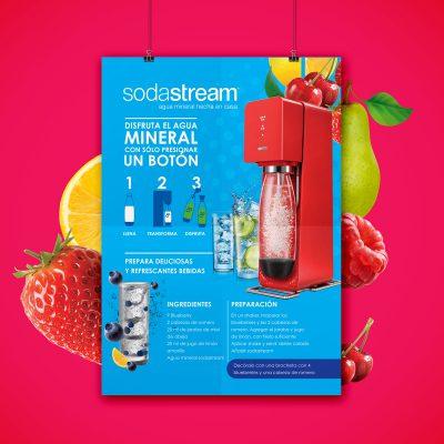 Sodastream. Diseño de gráficos para campaña publicitaria.