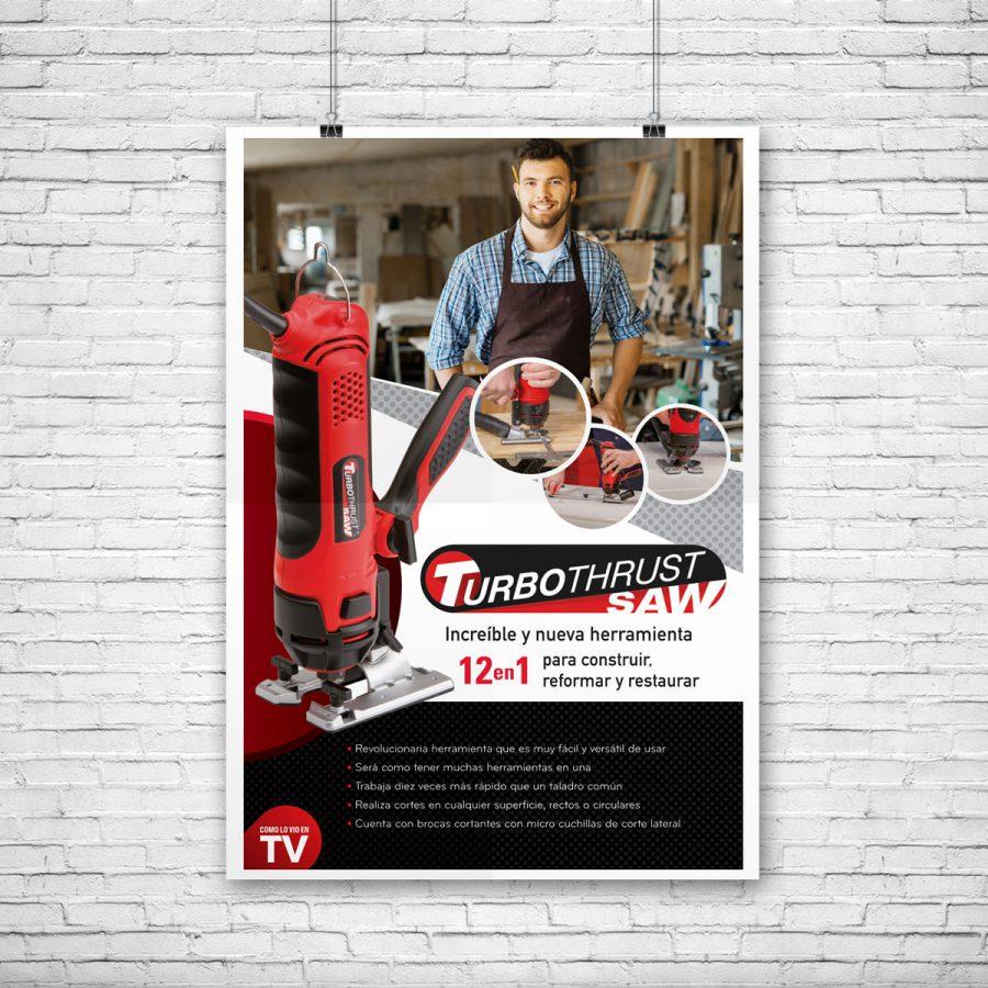 Turbothrust. Diseño de anuncio para Publimetro.