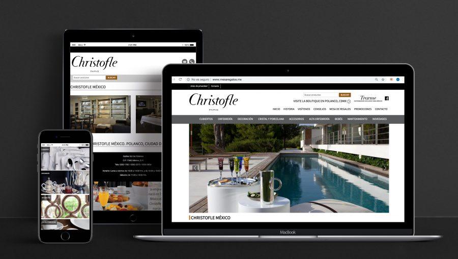 Christofle. Diseño de tienda en línea.