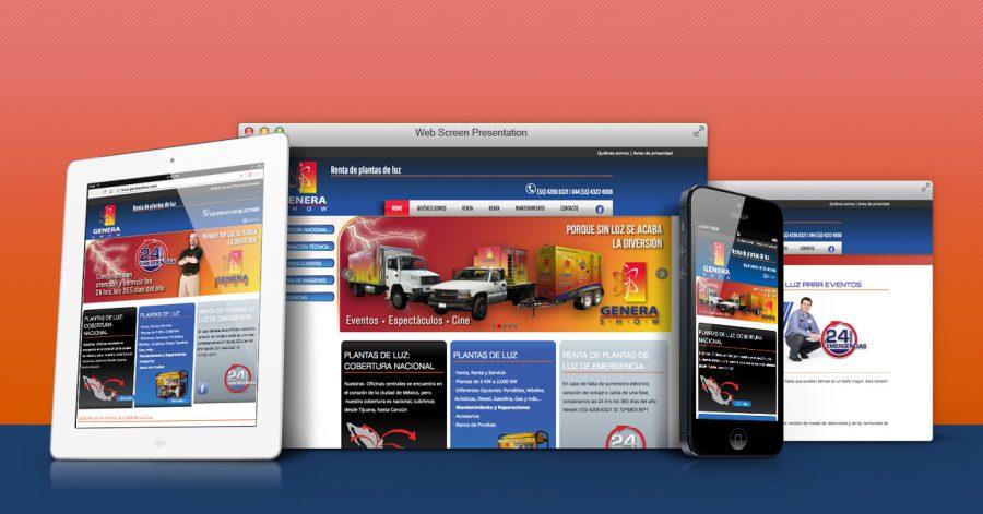 Genera Show. Diseño de sitio web.