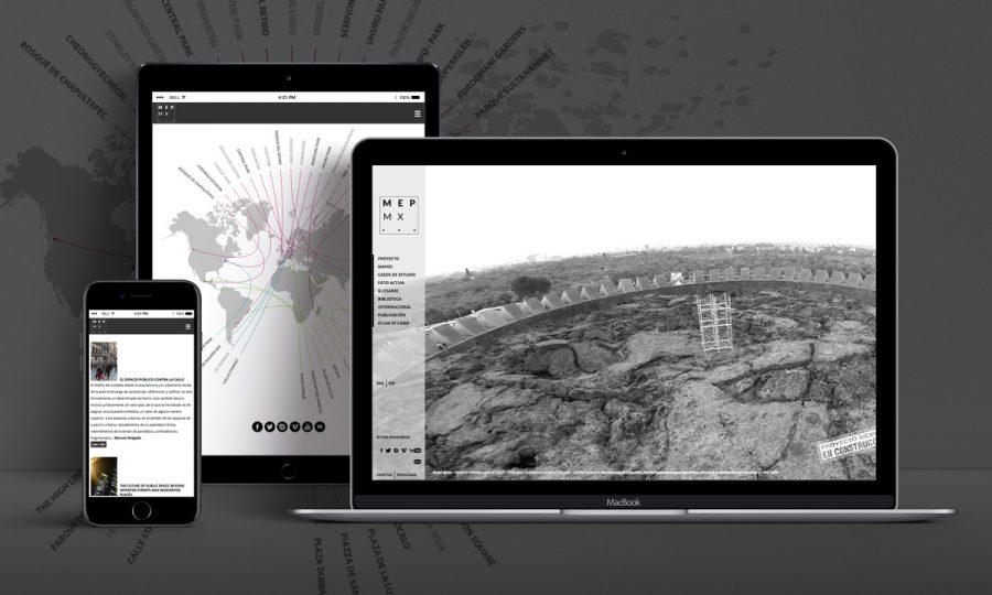 MEPMX, Mapeo del Espacio Público. Diseño de sitio web.