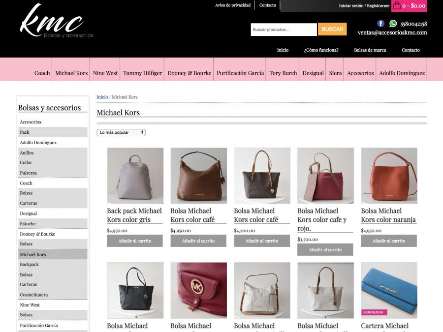 Accesorios KMC Desarrollo de tienda en línea.