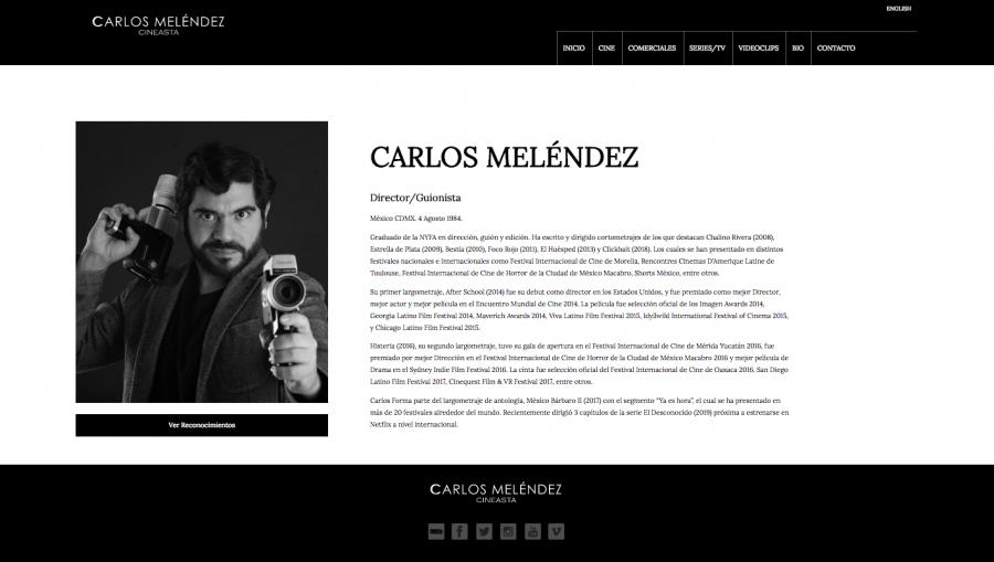 Carlos Meléndez Diseño de sitio web