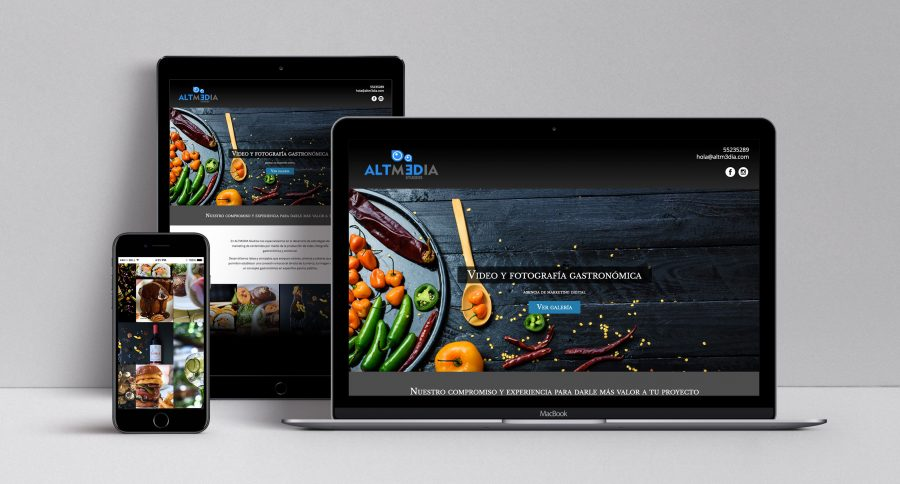 Altm3dia Studios. Diseño de sitio web.