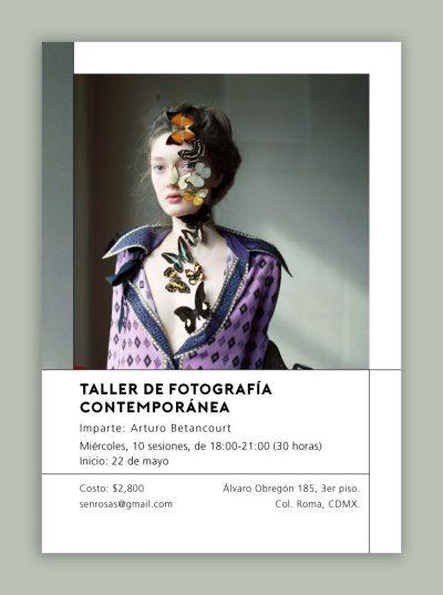 Publicidad para taller de Fotografía contemporánea