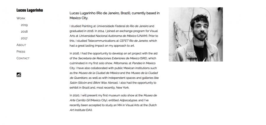 Lucas Lougarinho. Diseño de sitio web