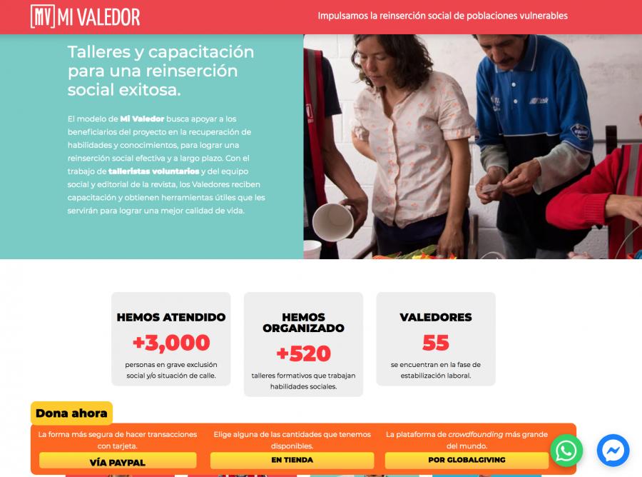Mi Valedor, Donataria Autorizada SAT. Desarrollo de sitio web.