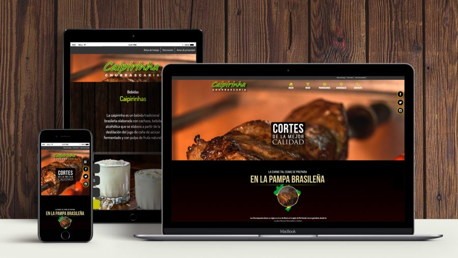 Caipirinha. Diseño de sitio web